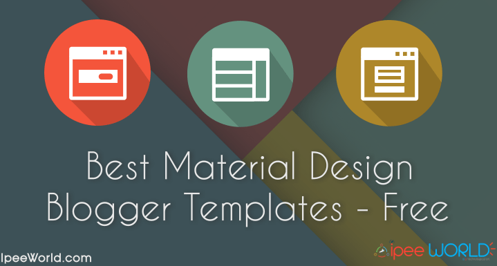 Best Free Material Design Blogger Templates